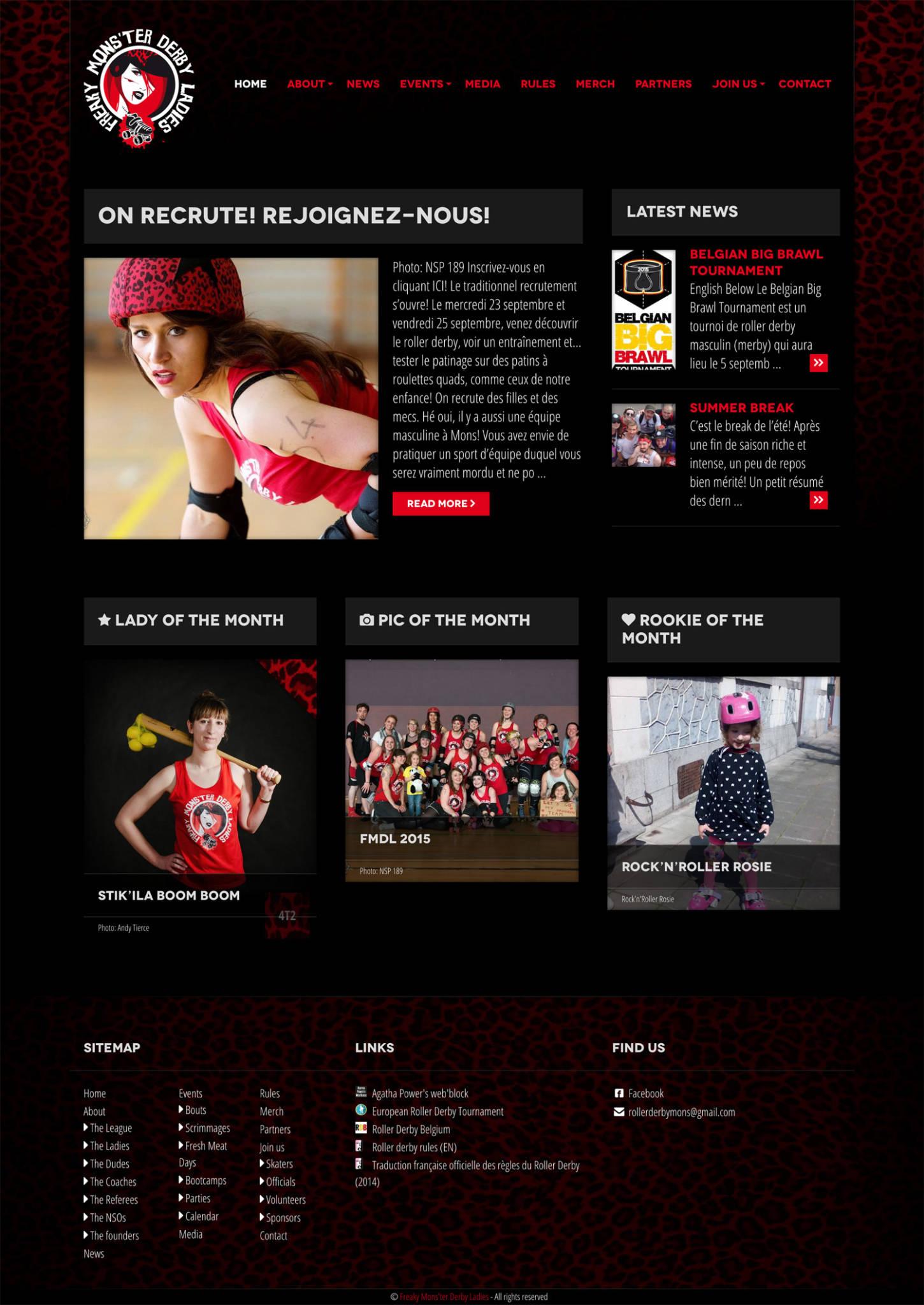 Freaky Monster Derby Ladies on desktop