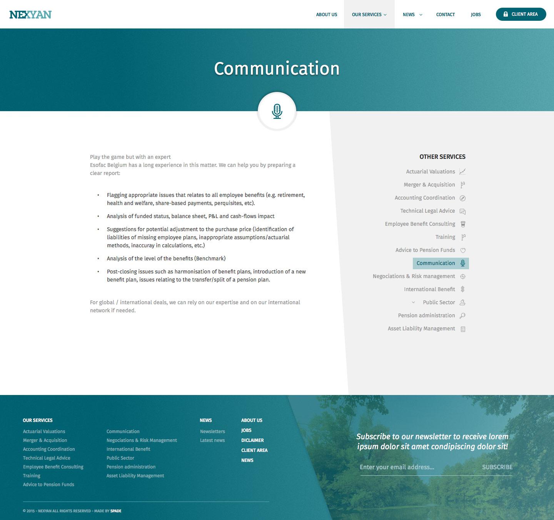 Nexyan - Service page